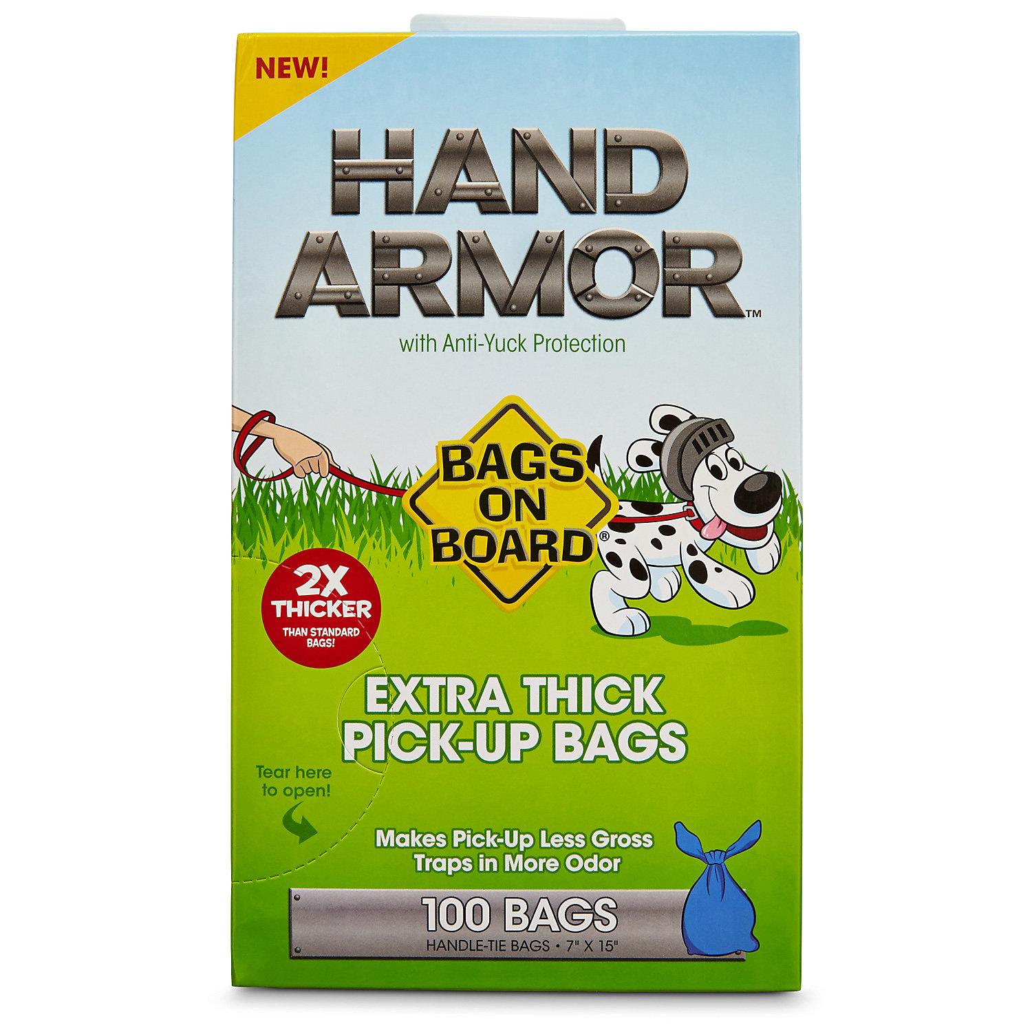 Bags On Board Hand Armor Extra Thick Dog Waste Pick Up Bags 100 Count
