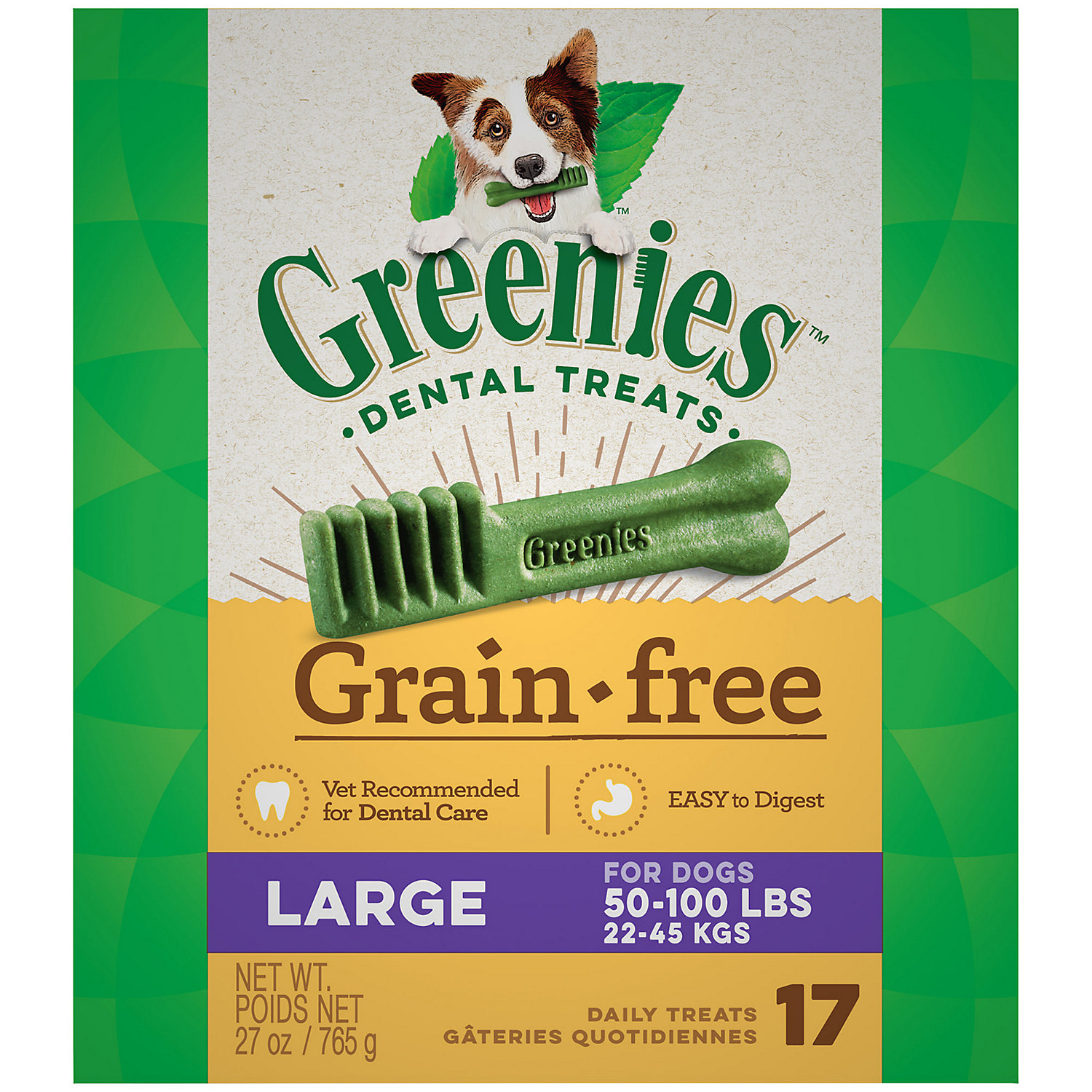Greenies Grain Free Large Dental Treats 27 Oz.
