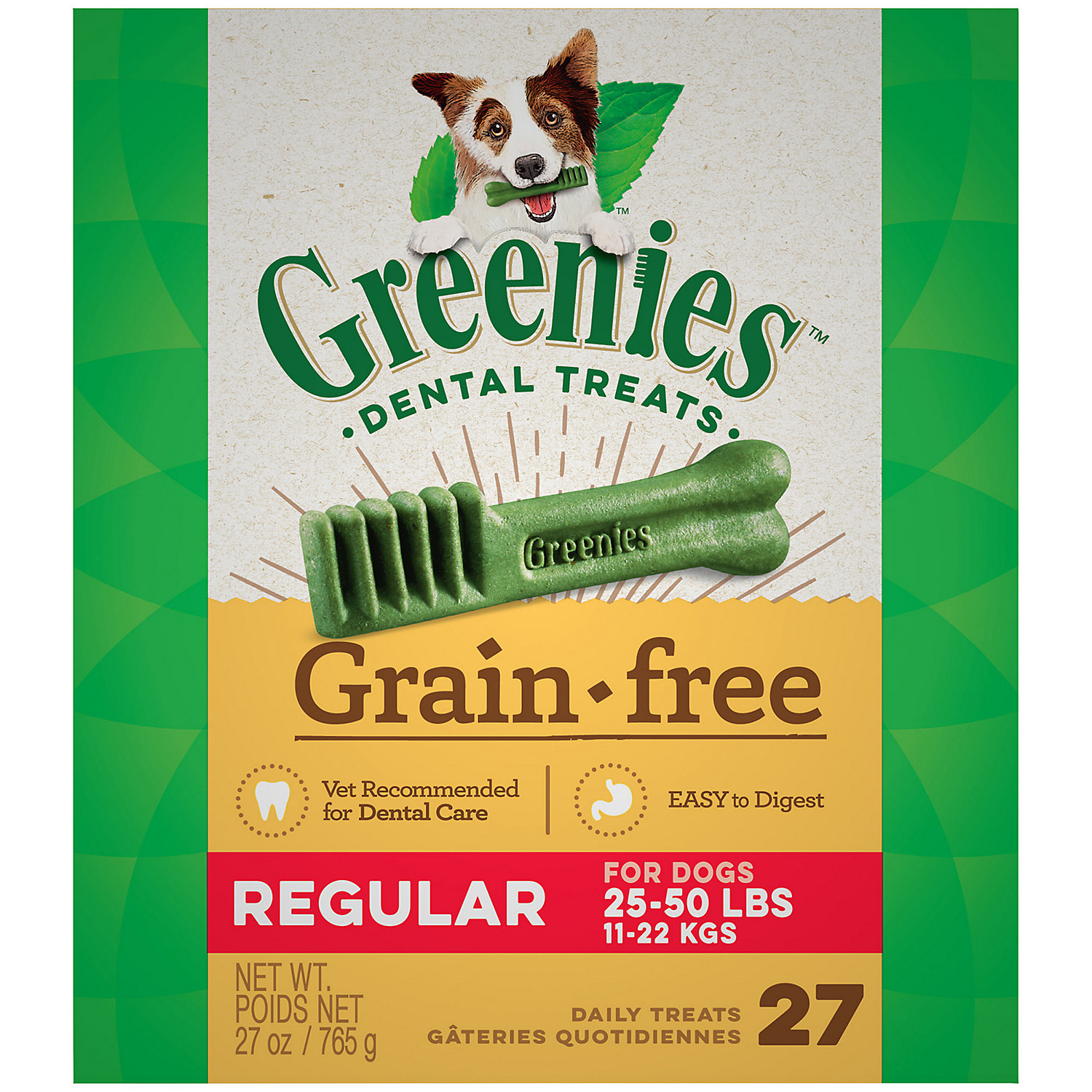Greenies Grain Free Regular Dental Dog Treats 27 Oz.