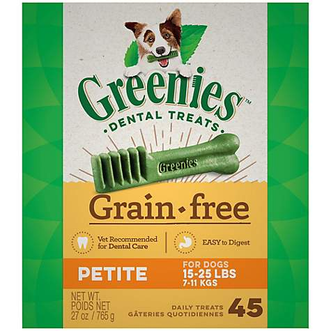 Greenies Grain Free Petite Dental Dog Treats