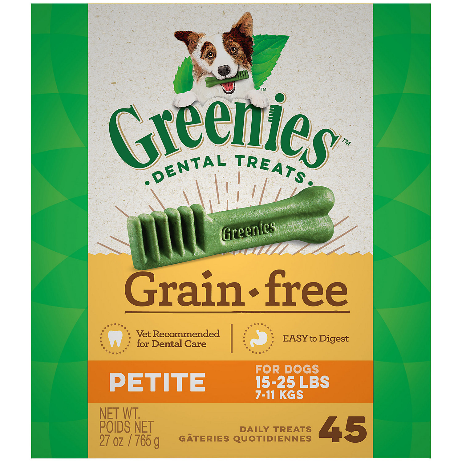 Greenies Grain Free Petite Dental Dog Treats 27 Oz.
