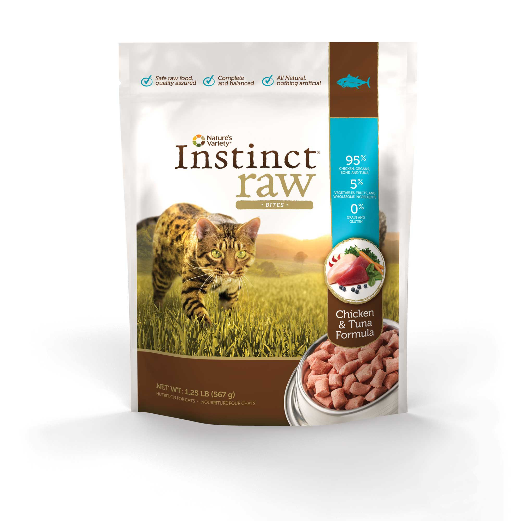 Nature's Variety Instinct Raw Chicken & Tuna Bites Frozen Cat Food