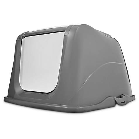 So Phresh Flip Top Cat Litter Box Hood in Grey