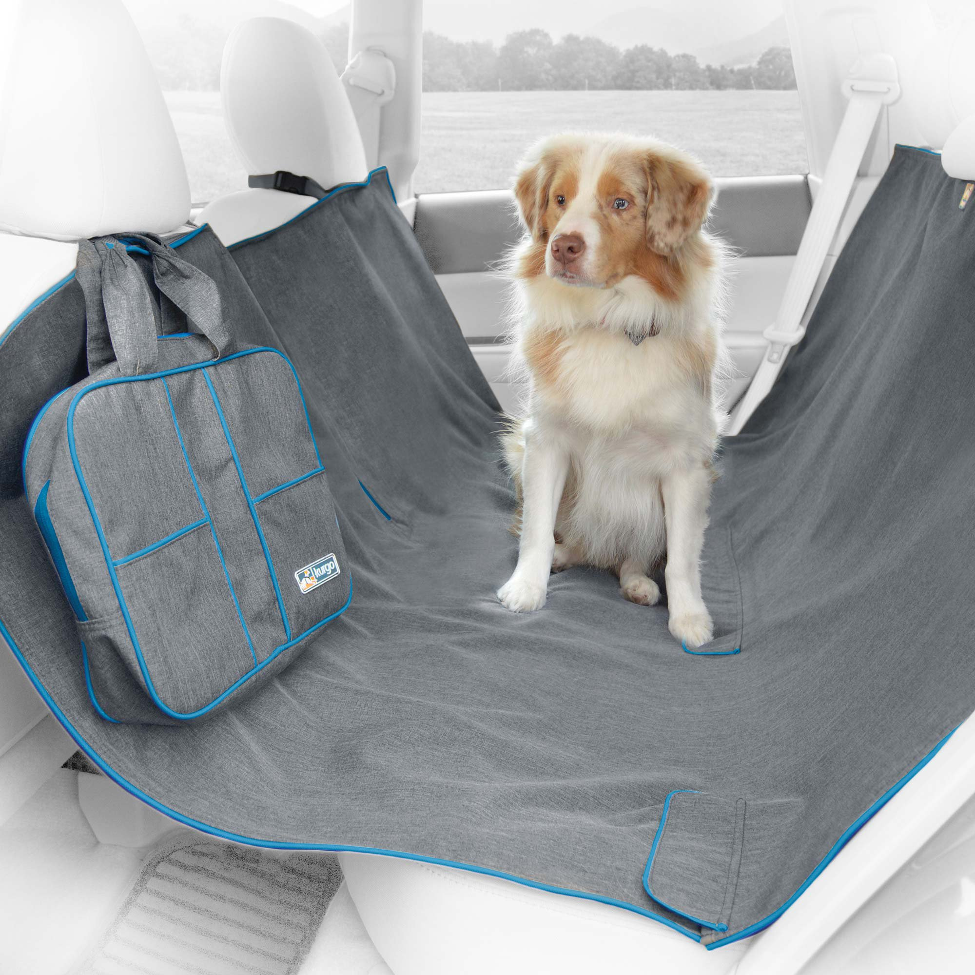 kurgo heather hammock gray dog car seat cover petco. Black Bedroom Furniture Sets. Home Design Ideas