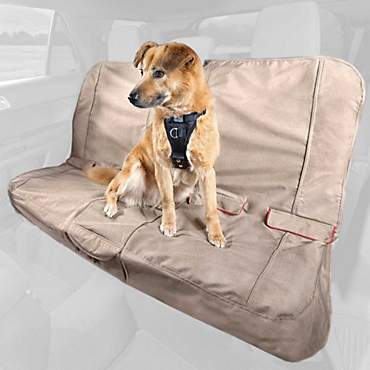 Kurgo Heather Bench Tan Dog Car Seat Cover