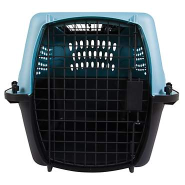 Petmate 2-Door Top Load Kennel, Blue