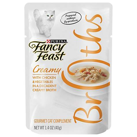 Fancy Feast Broths Creamy Chicken & Vegetables Cat Food