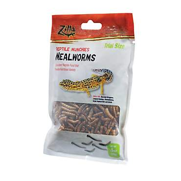 Zilla Reptile Munchies Mealworms Reptile Food