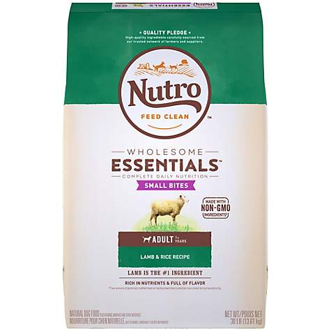 NUTRO WHOLESOME ESSENTIALS Small Bites Pasture-Fed Lamb & Rice Recipe Dry Adult Dog Food