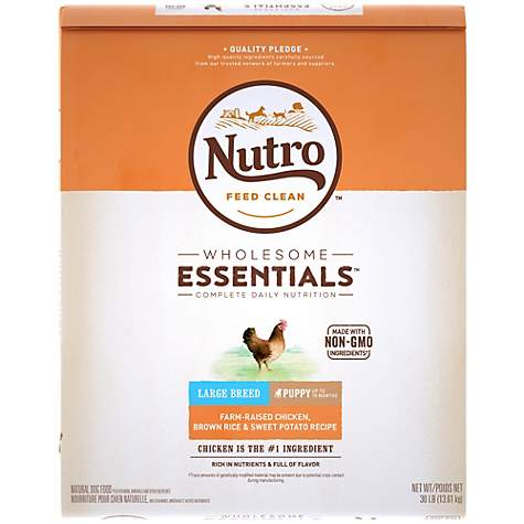 Nutro Wholesome Essentials Farm Raised En Sweet Potato Recipe Dry Large Breed Puppy Food
