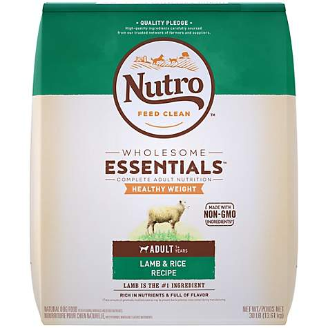 NUTRO WHOLESOME ESSENTIALS Healthy Weight Pasture-Fed Lamb & Rice Recipe Dry Adult Dog Food