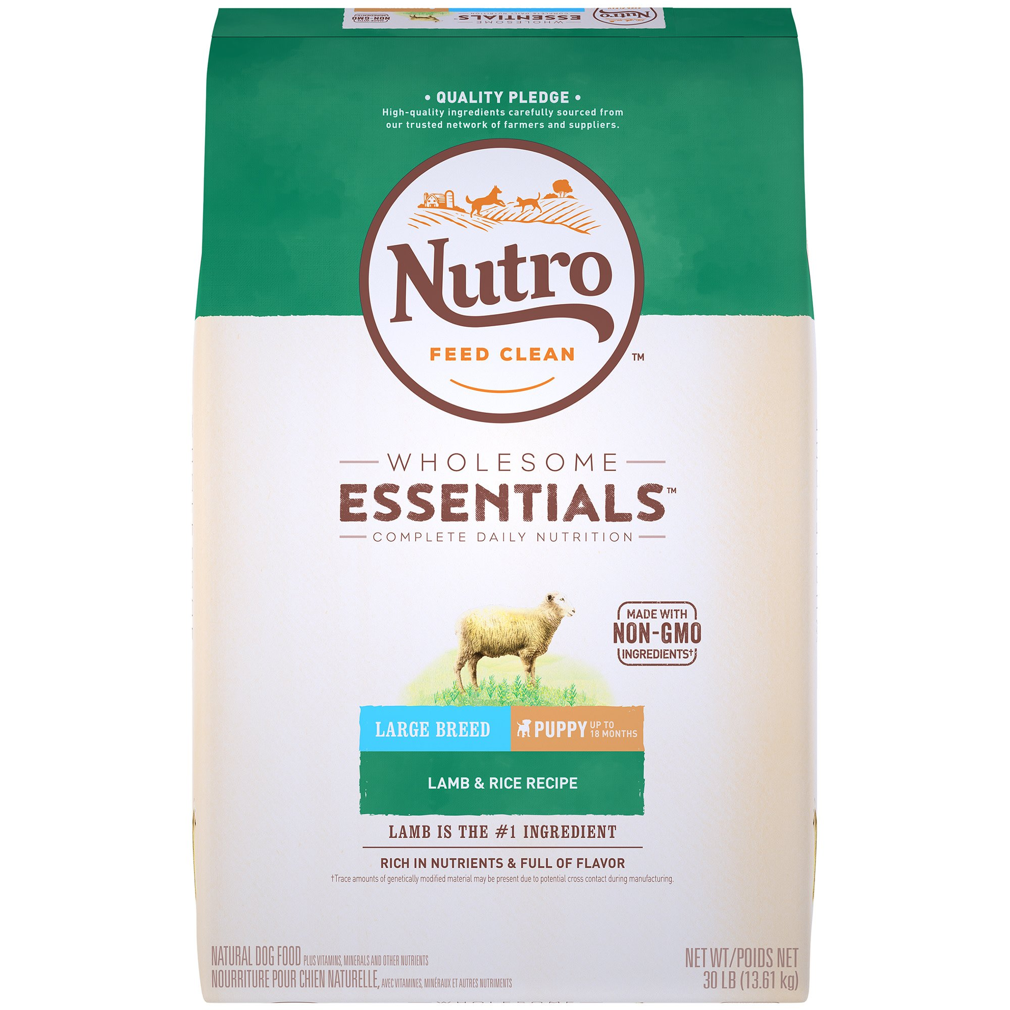 Nutro Ultra Dog Food >> NUTRO WHOLESOME ESSENTIALS Pasture-Fed Lamb & Rice Recipe Dry Large Breed Puppy Food | Petco