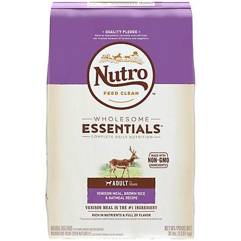 NUTRO WHOLESOME ESSENTIALS Venison Meal, Brown Rice & Oatmeal Recipe Dry Adult Dog Food