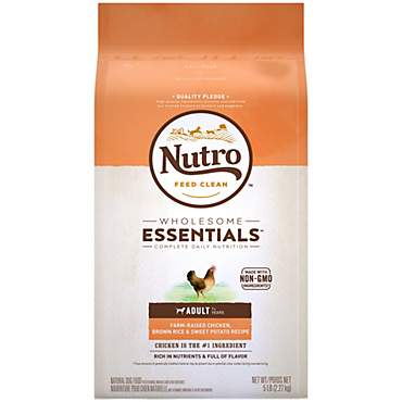 Nutro Wholesome Essentials Farm-Raised Chicken, Brown Rice & Sweet Potato Recipe Dry Adult Dog Food