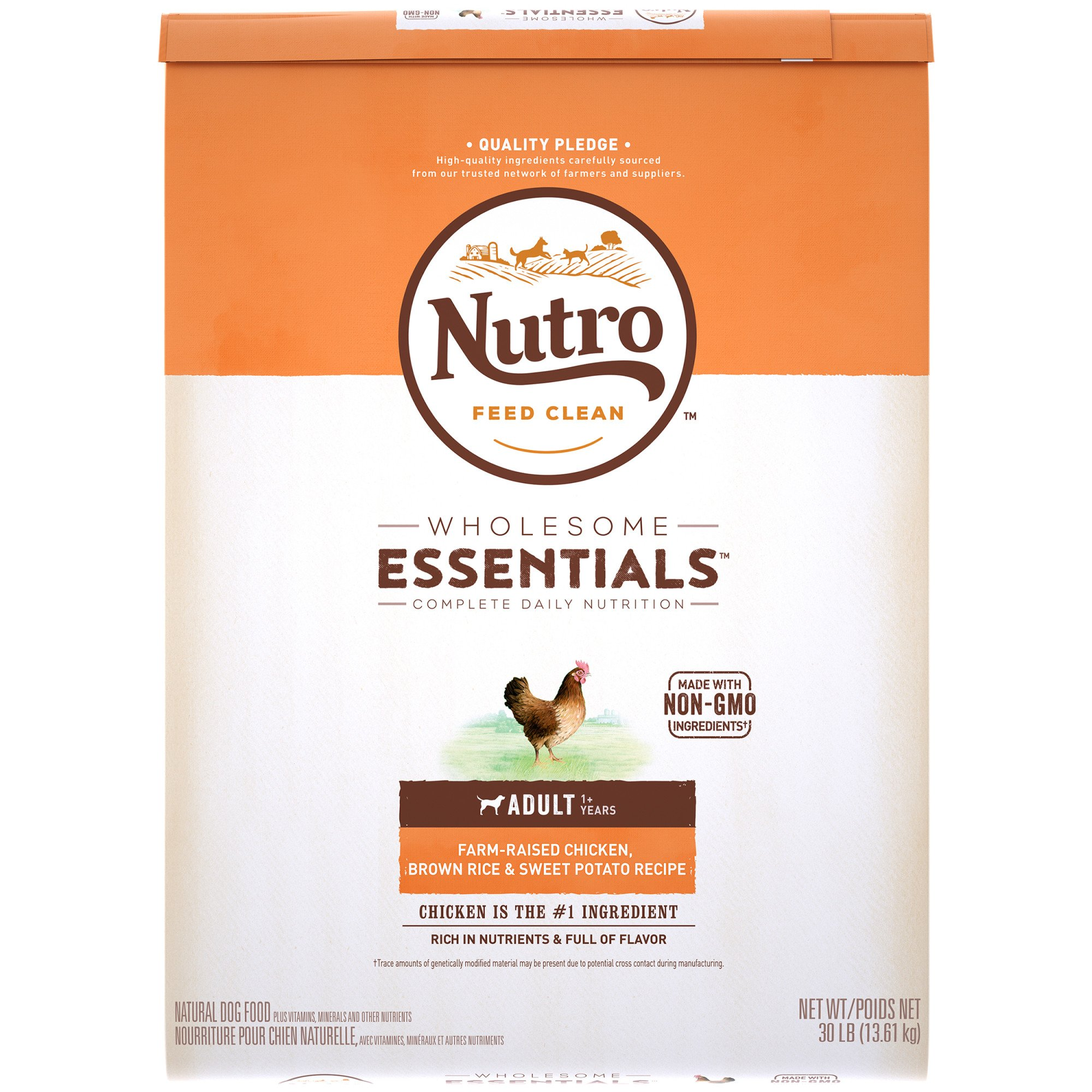 Nutro Wholesome Essentials Adult Farm-Raised Chicken, Brown Rice & Sweet Potato Dog Food Recipe
