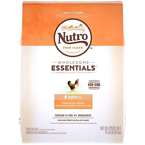 Nutro Wholesome Essentials Farm-Raised Chicken, Brown Rice & Sweet Potato Recipe Dry Puppy Food