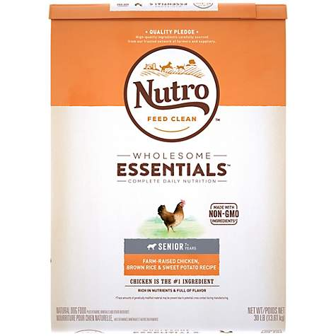 Nutro Wholesome Essentials Farm-Raised Chicken, Brown Rice & Sweet Potato Recipe Dry Senior Dog Food