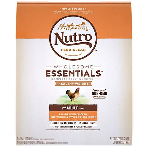 Nutro Wholesome Essentials Healthy Weight Farm-Raised Chicken, Lentils & Sweet Potato Recipe Dry Adult Dog Food