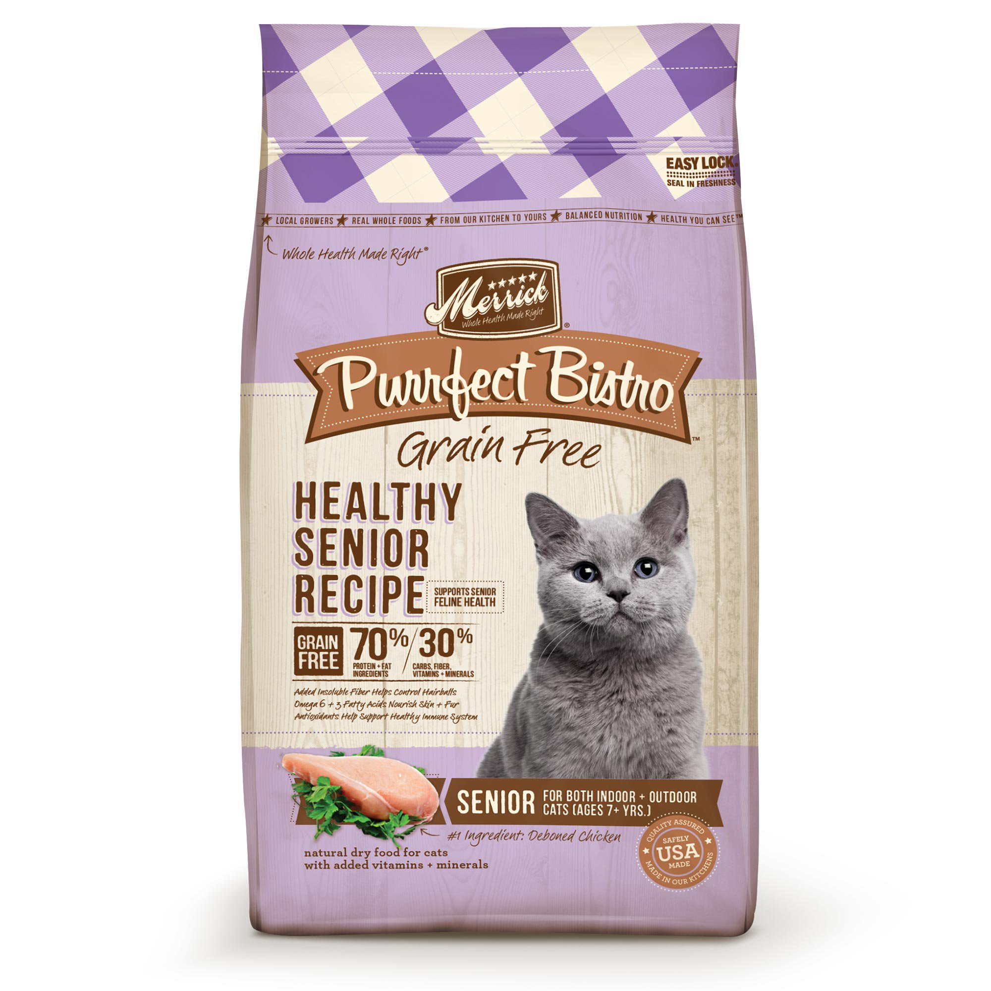 Merrick purrfect bistro grain free healthy senior dry cat food petco forumfinder Image collections