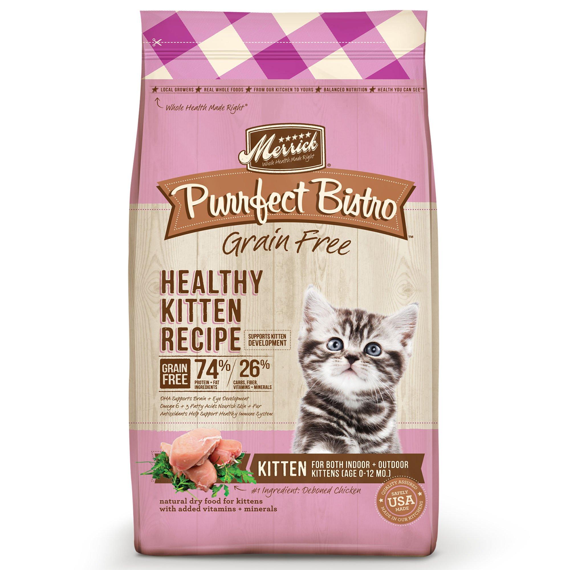 Merrick Purrfect Bistro Grain Free Healthy Kitten Dry Food Petco