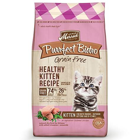 Merrick Purrfect Bistro Grain Free Healthy Kitten Dry Food