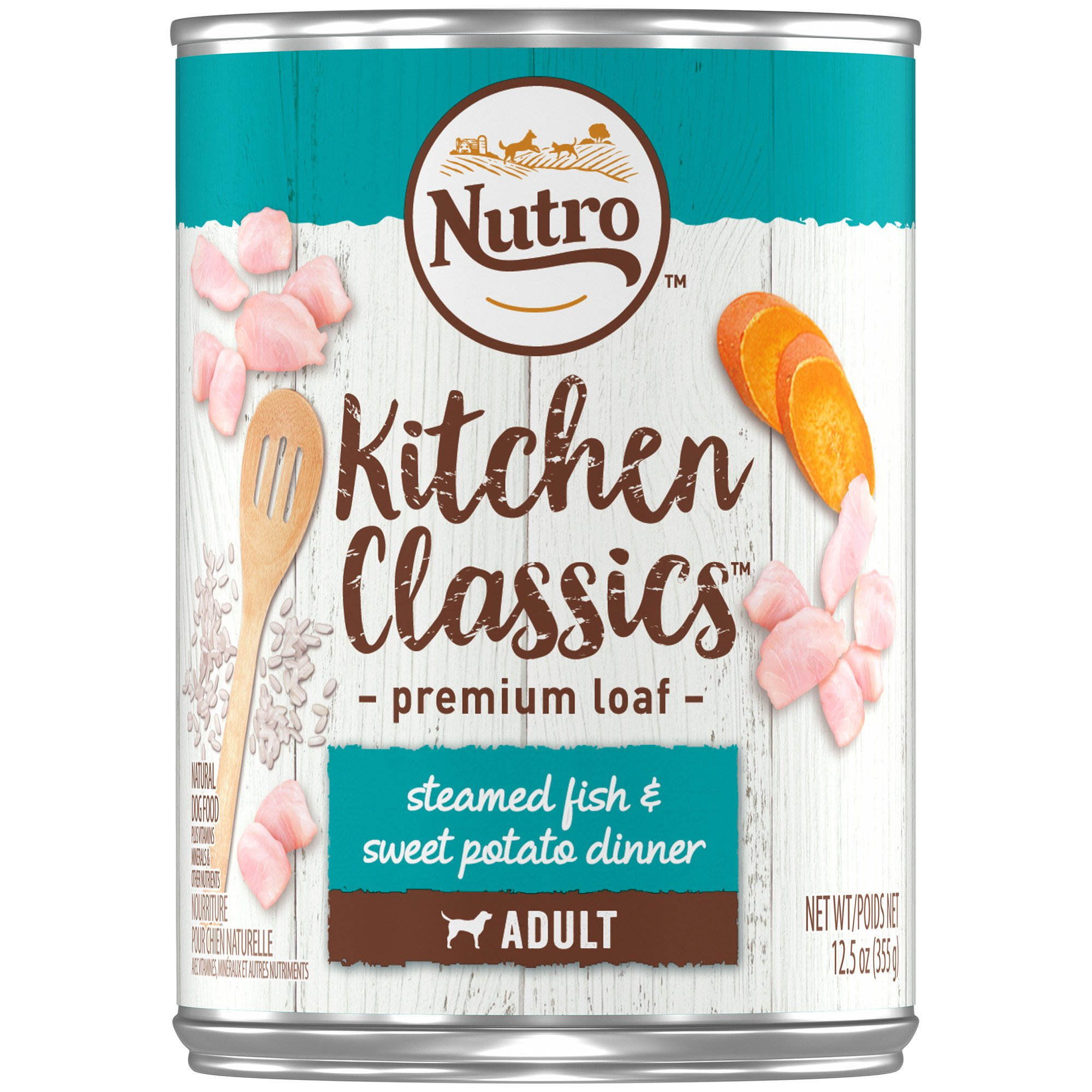Nutro Kitchen Classics Steamed Fish & Sweet Potato Dinner Premium Loaf  Canned Dog Food Recipe | Petco