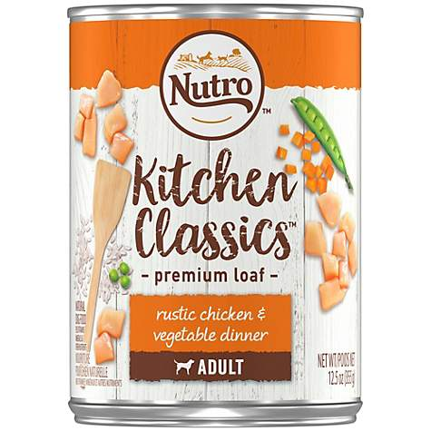 Nutro Kitchen Classics Rustic Chicken & Vegetable Dinner Premium Loaf Canned Adult Wet Dog Food
