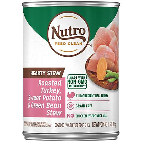 NUTRO HEARTY STEWS Chunky Chicken & Turkey Stew Chunks in Gravy Canned Adult Wet Dog Food