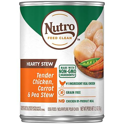 Nutro Hearty Stews Healthy Chicken & Rice Stew Chunks in Gravy Canned Adult Wet Dog Food
