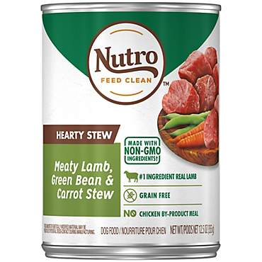 Nutro Hearty Stews Meaty Lamb & Rice Stew Chunks in Gravy Canned Adult Wet Dog Food