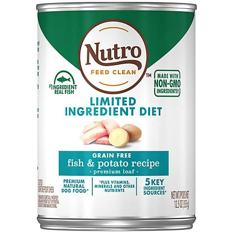 Nutro Limited Ingredient Diet Fish & Potato Recipe Premium Loaf Canned Adult Wet Dog Food
