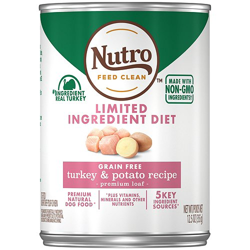 NUTRO Limited Ingredient Diet Farm Raised Turkey and Potato Recipe Canned Adult Wet Dog Food