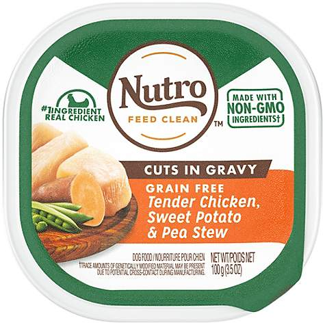 Nutro Petite Eats Chef Inspired Chicken Entree Cuts in Gravy Trays Small Breed Adult Wet Dog Food