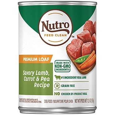 Nutro Premium Loaf Savory Lamb, Carrot & Pea Recipe Adult Wet Dog Food