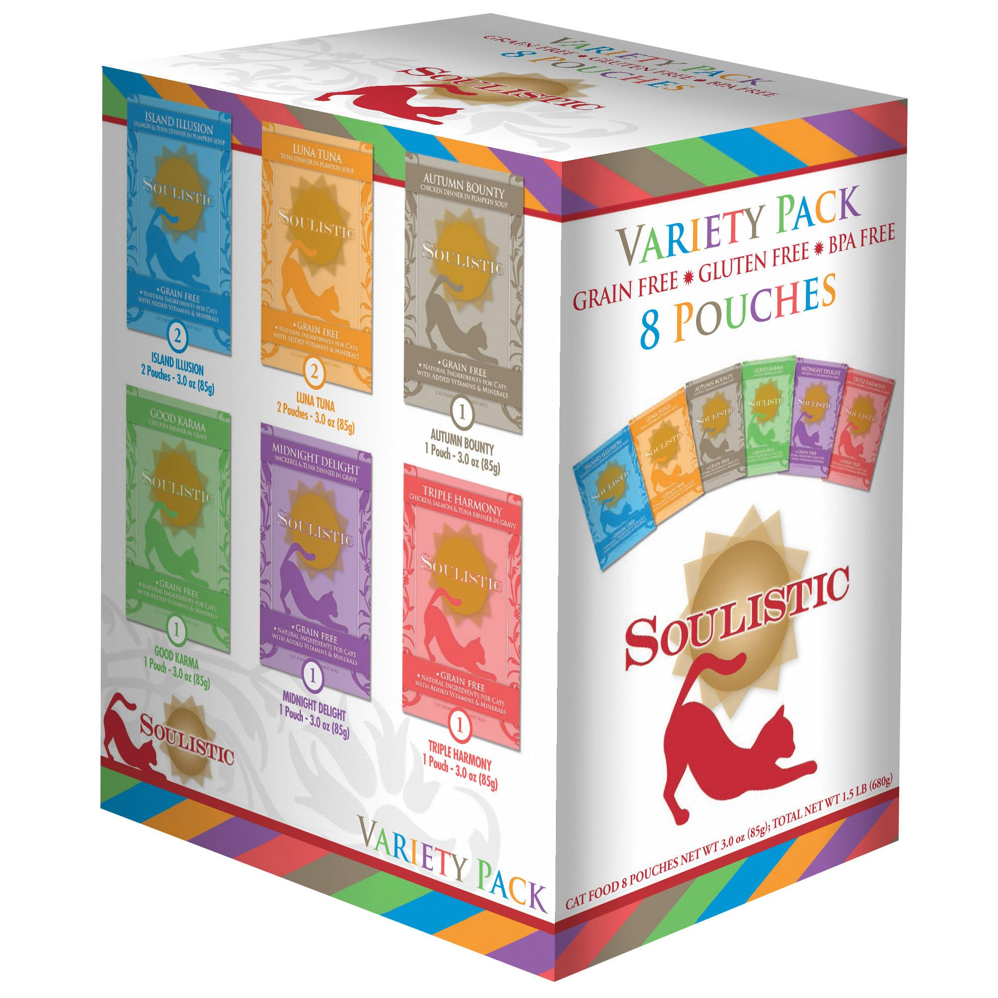 Soulistic Variety Pack Adult Cat Food Pouches Petco