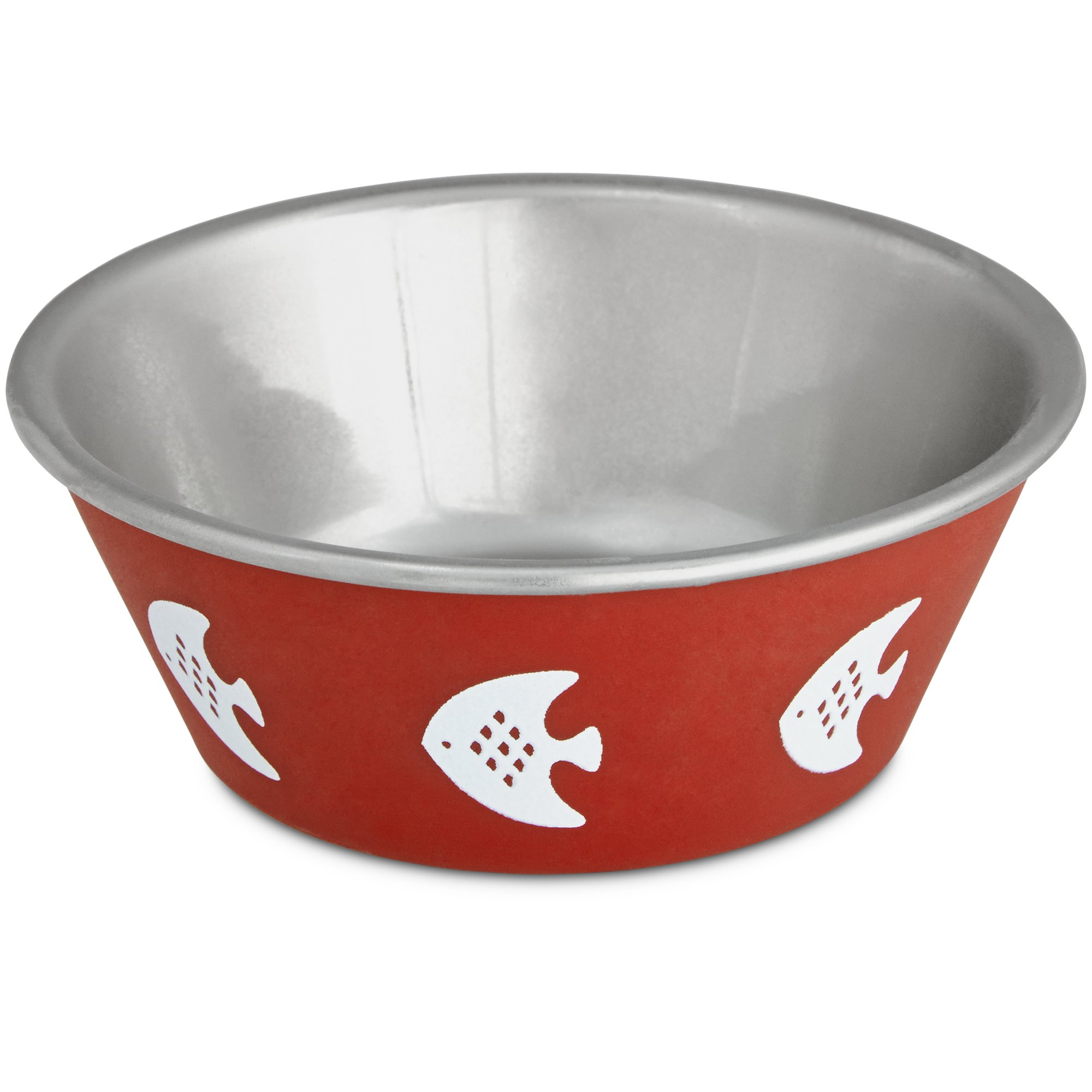 Harmony Red Fish Stainless Steel Cat Bowl Petco