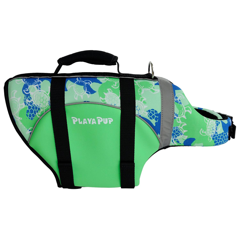Image of Playa Pup Green Dog Flotation Vest, Large