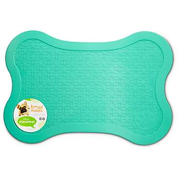 Bowlmates Mint Bone Placemat, X-Small/Small