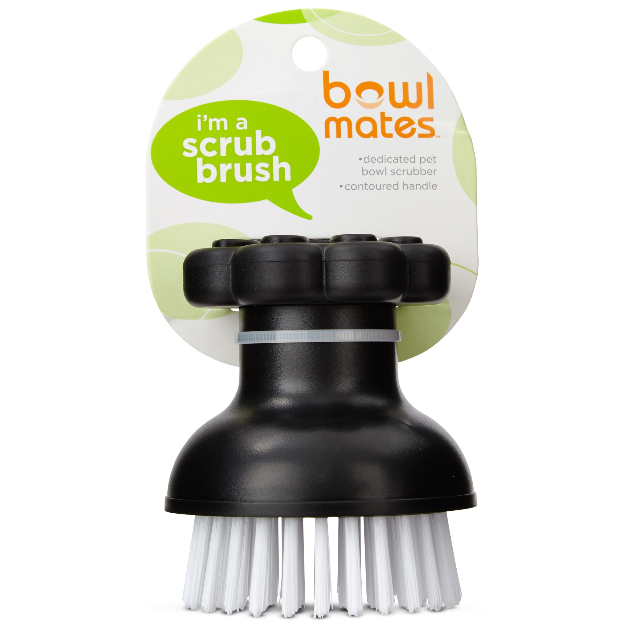 Image of Bowlmates Black Dog Bowl Scrub Brush, One Size Fits All