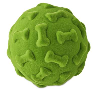 Leaps &  Bounds Medium Flocked Foam Ball Toy