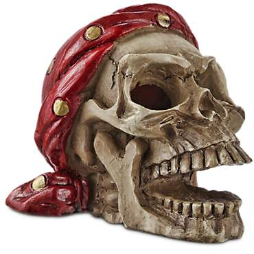 Imagitarium Pirate Skull with Bandana Aquatic Decor