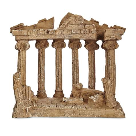 Imagitarium Resin Greek Temple Aquatic Decor