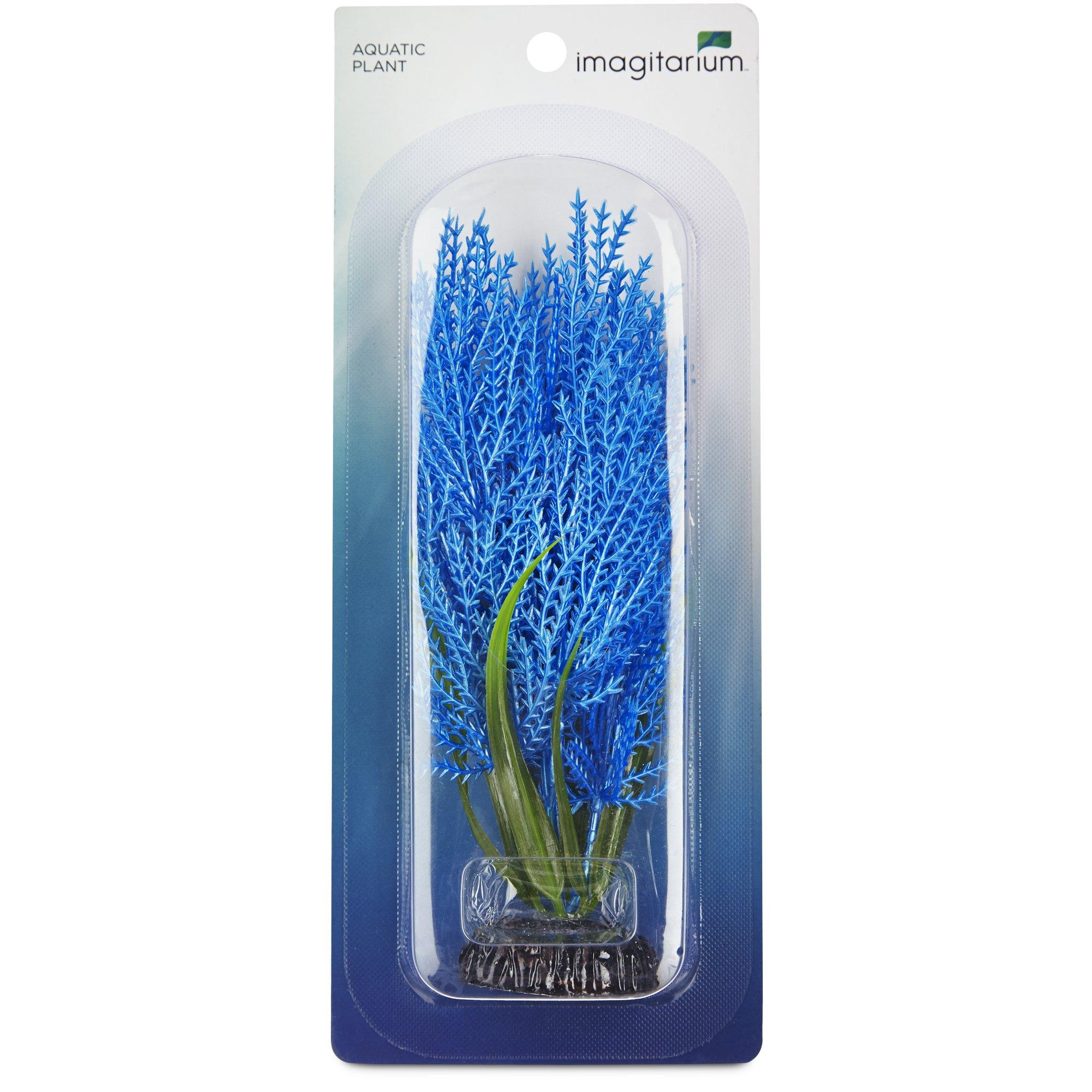 Imagitarium blue hairgrass plastic aquarium decor petco for Petco fish tank decor