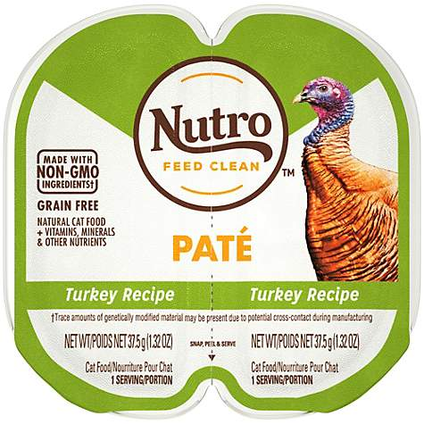 Nutro Perfect Portions Real Turkey Pate Wet Cat Food Trays