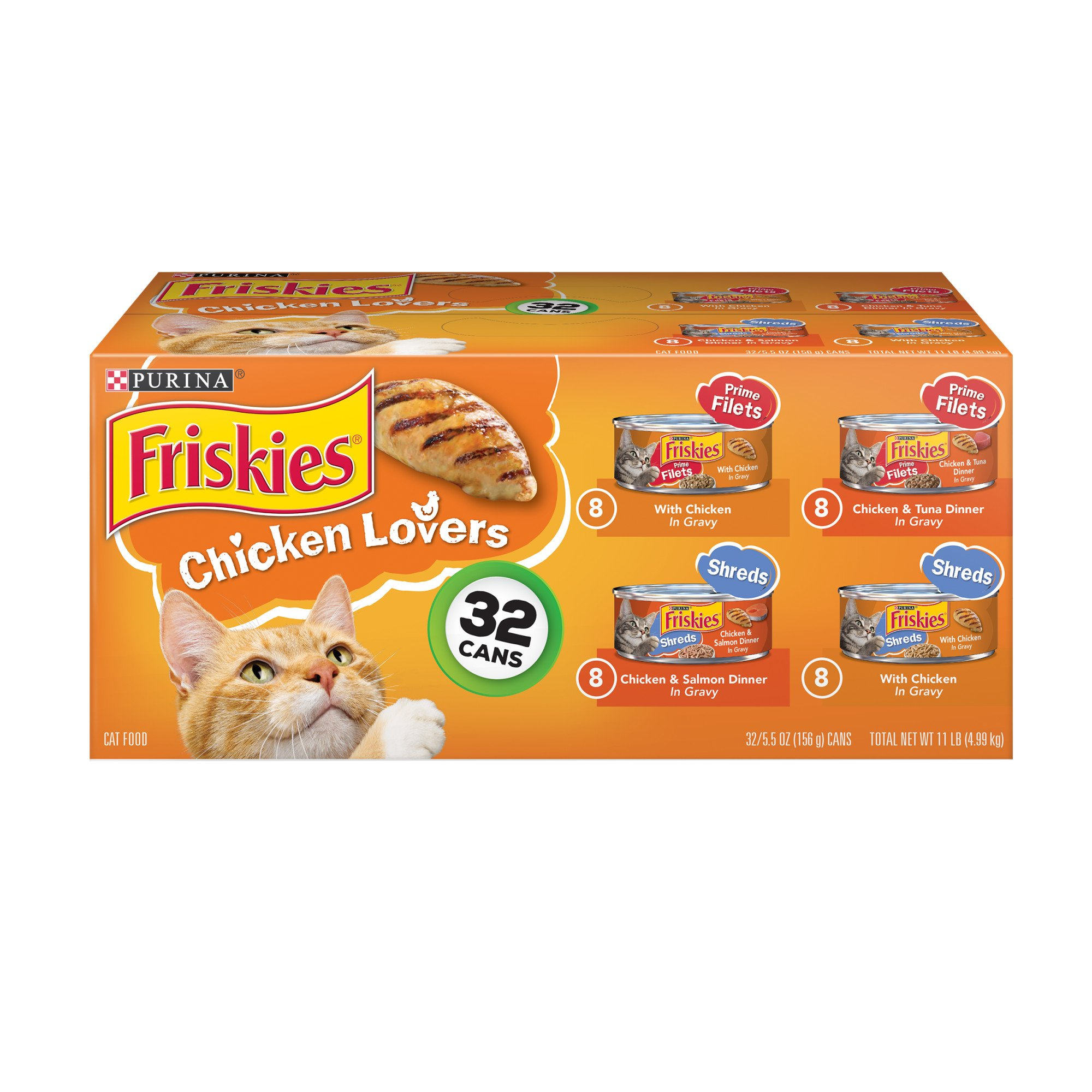 Friskies chicken lovers variety pack canned cat food petco for Friskies cat fishing