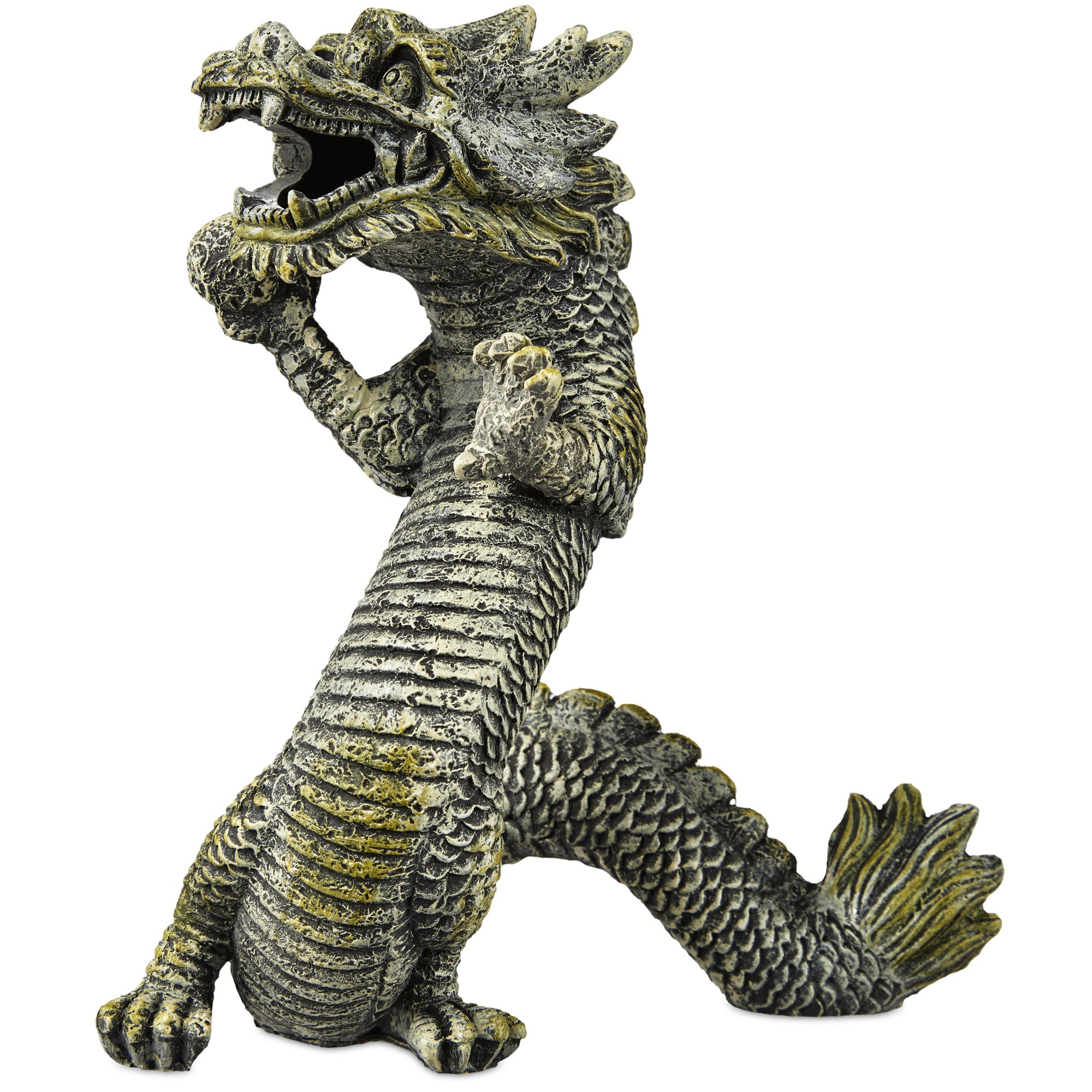 Imagitarium resin dragon aquatic decor petco for Aquatic decoration