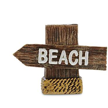 Imagitarium Resin Beach Sign Aquatic Decor