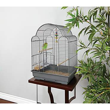 You & Me Parakeet Scallop Top Cage