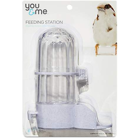 You & Me Jumbo Fountain Feeder White