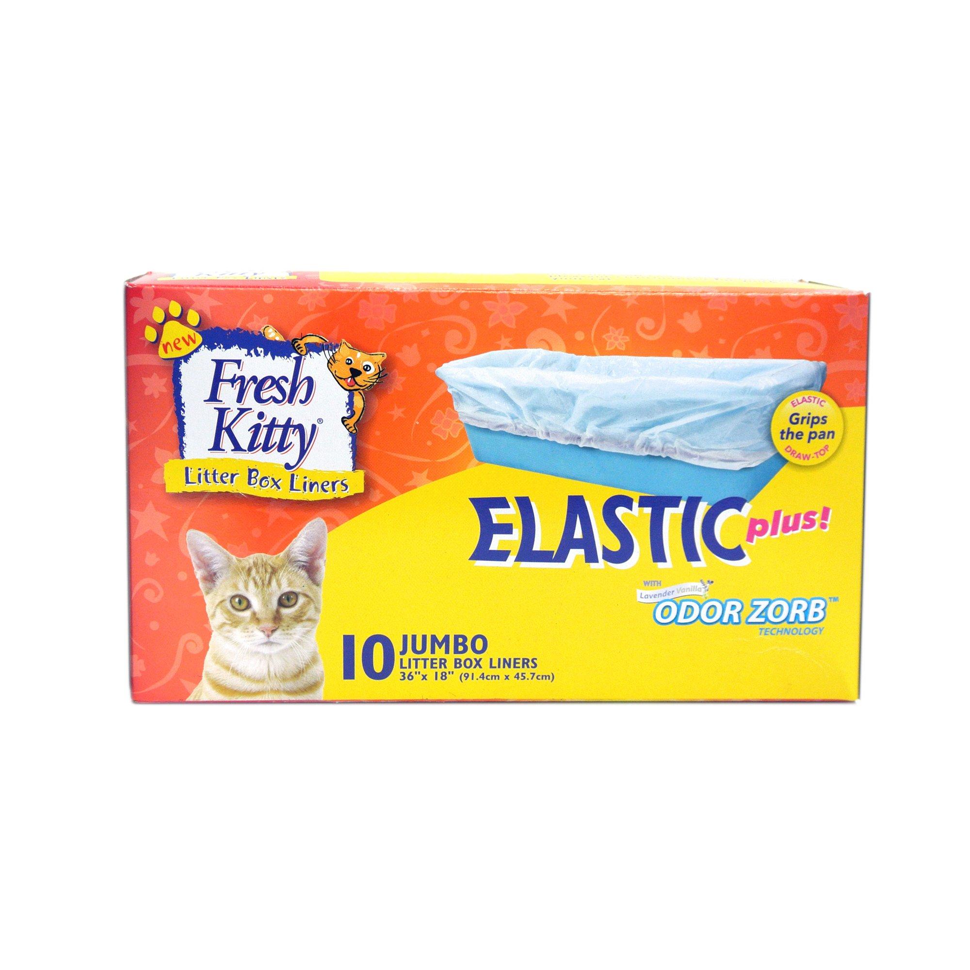 Fresh Kitty Jumbo Elastic Litter Box Liners Petco